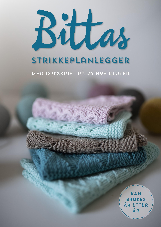 """""""Bittas strikkeplanlegger - med oppskrift på 24 nye kluter"""" av Bitta Mikkelborg"""