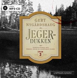"""""""Jegerdukken - kriminalroman med Fredric Drum og Skarphedin Olsen"""" av Gert Nygårdshaug"""