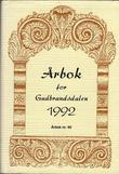 """""""Årbok for Gudbrandsdalen 1992"""" av Johs. Myhren"""