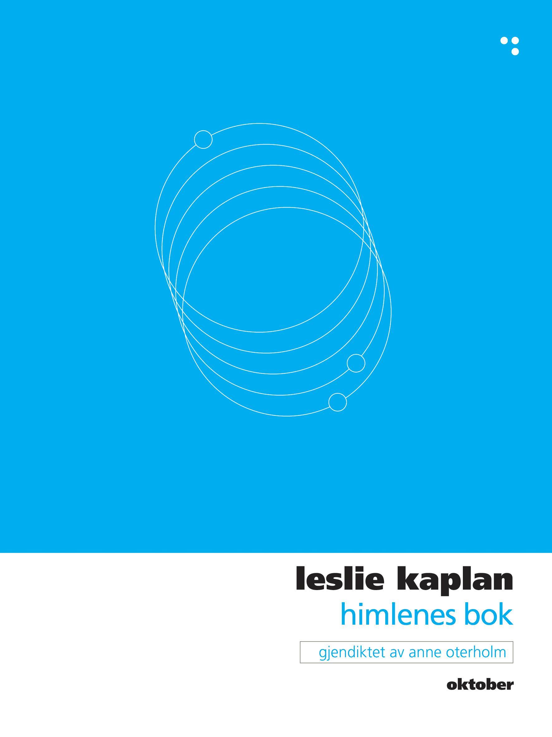 """""""Himlenes bok"""" av Leslie Kaplan"""