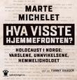 """""""Hva visste hjemmefronten? Holocaust i Norge: varslene, unnvikelsene, hemmeligholdet"""" av Marte Michelet"""