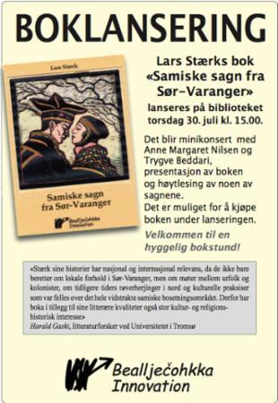 """""""Samiske sagn fra Sør-Varanger"""" av Lars Stærk"""