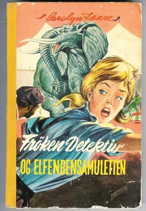 """""""Frøken detektiv og elfenbensamuletten"""" av Carolyn Keene"""