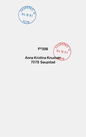 """7078 Saupstad"" av Anna Kristina Knudsen"