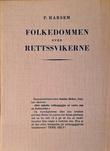 """""""Folkedommen over rettssvikerne"""" av P. Harsem"""