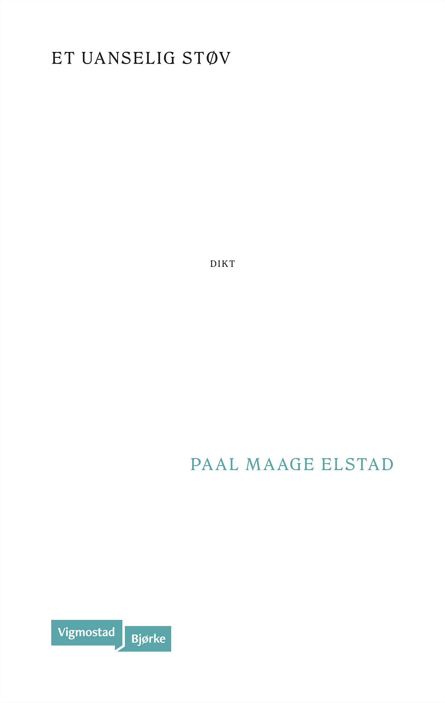"""Et uanselig støv"" av Paal Maage Elstad"
