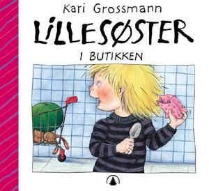 """""""Lillesøster i butikken"""" av Kari Grossmann"""