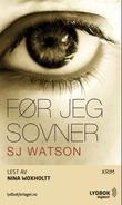 """""""Før jeg sovner"""" av S. J. Watson"""