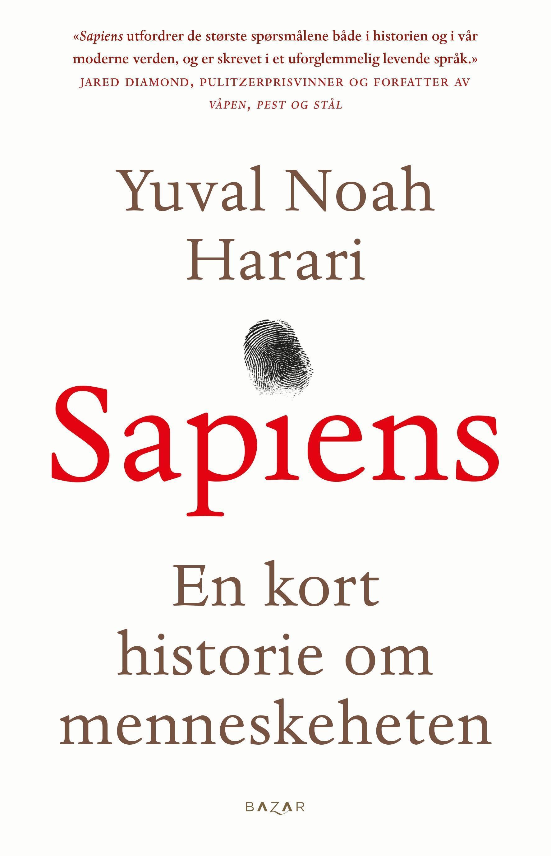 """""""Sapiens - en innføring i menneskehetens historie"""" av Yuval Noah Harari"""
