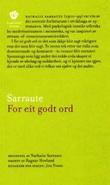"""""""For eit godt ord"""" av Nathalie Sarraute"""