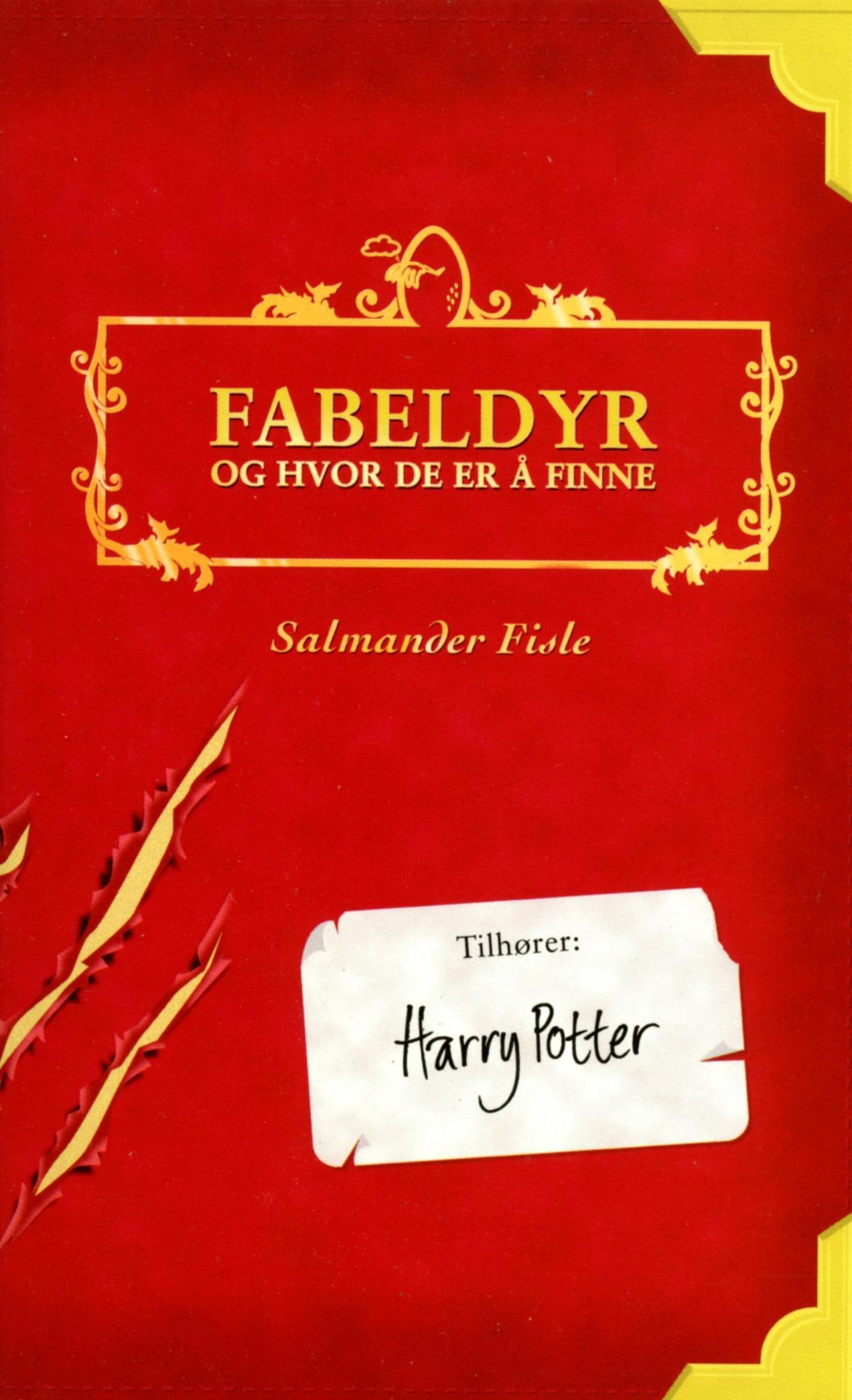 """""""Fabeldyr og hvor de er å finne"""" av Salmander Fisle"""