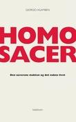 """""""Homo sacer den suverene makten og det nakne livet"""" av Giorgio Agamben"""
