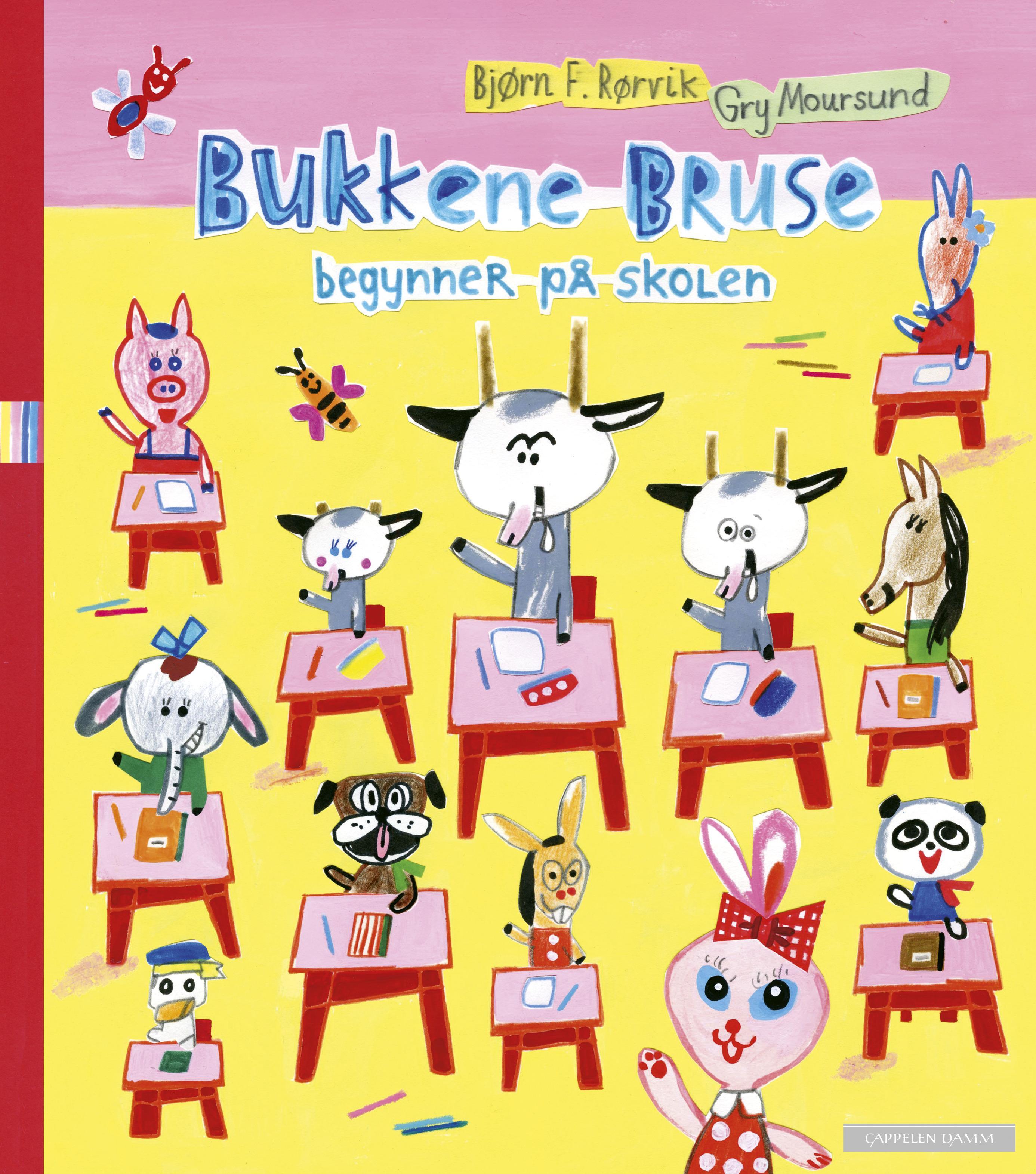 """""""Bukkene Bruse begynner på skolen"""" av Bjørn F. Rørvik"""