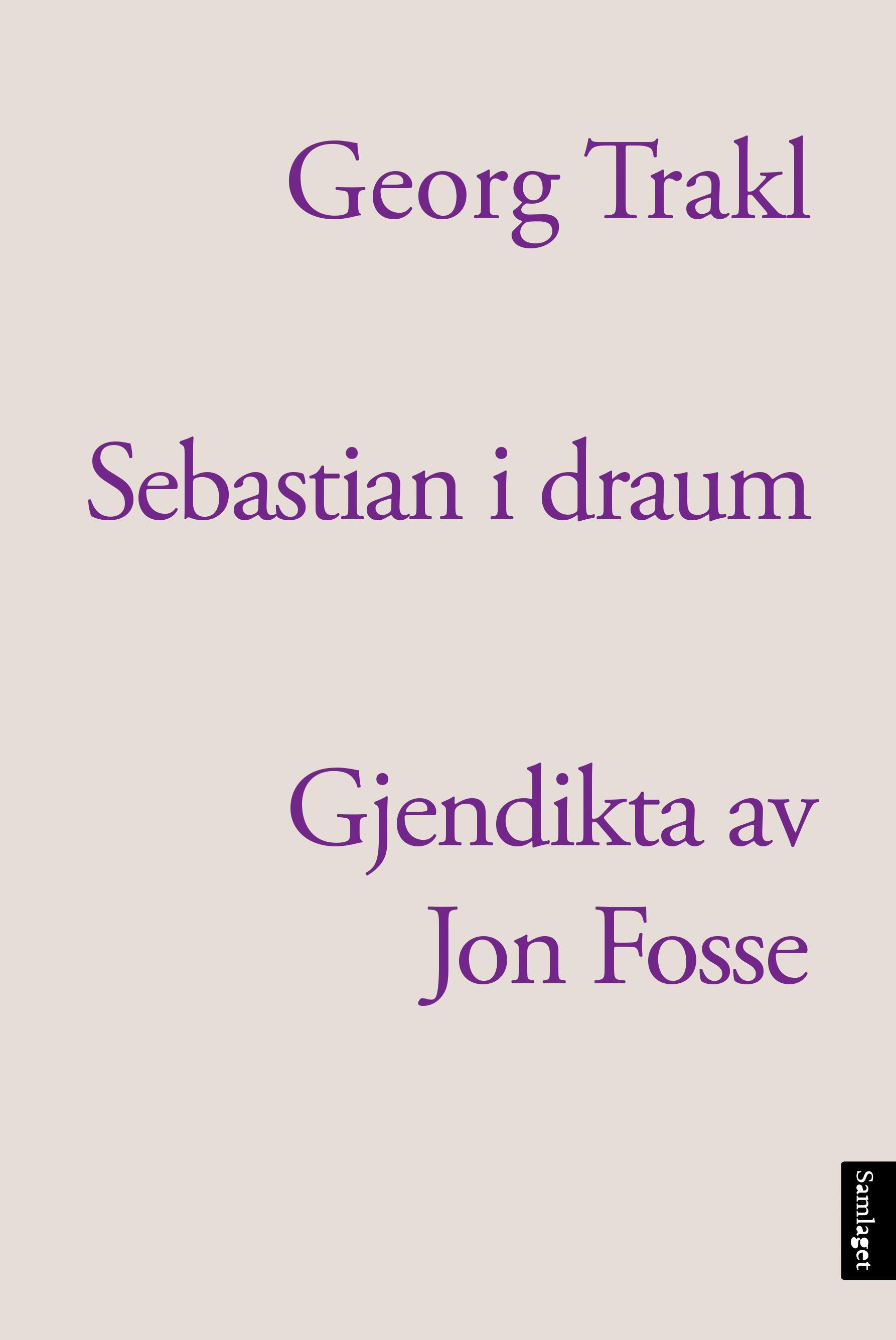 """""""Sebastian i draum"""" av Georg Trakl"""