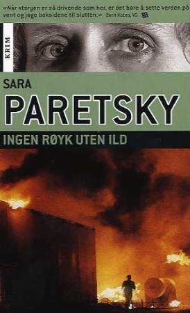 """""""Ingen røyk uten ild - en sak for V.I. Warshawski"""" av Sara Paretsky"""