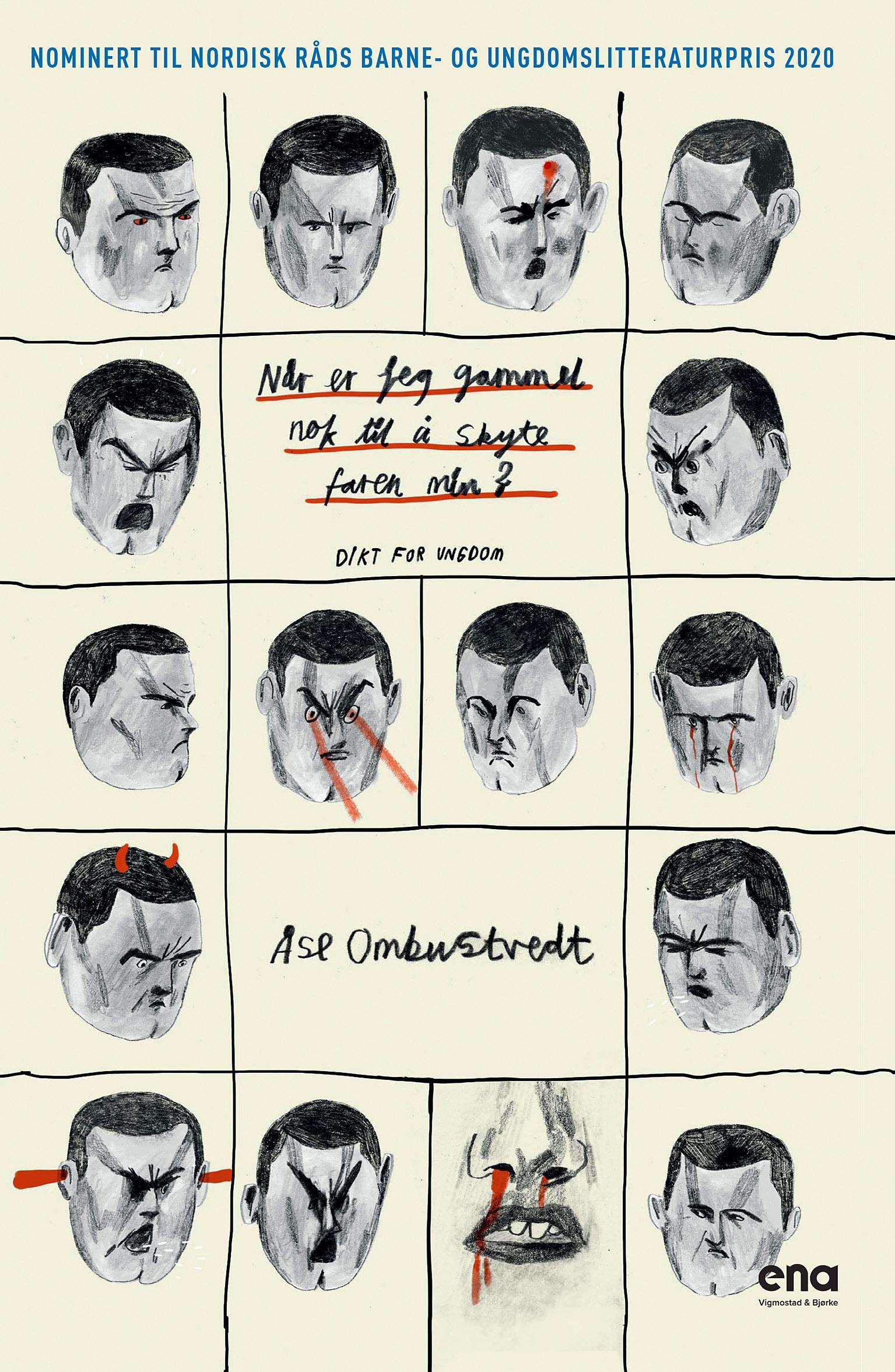 """""""Når er jeg gammel nok til å skyte faren min? - dikt for ungdom"""" av Åse Ombustvedt"""