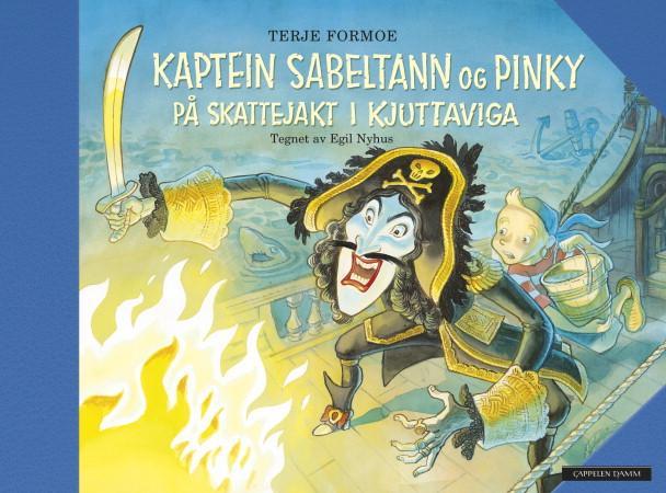 """""""Kaptein Sabeltann og Pinky på skattejakt i Kjuttaviga"""" av Terje Formoe"""