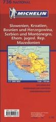 """Slovenia, Croatia, Bosnia and Herzegovina, Serbia and Montenegro, The former Yug. Rep. of Macedonia - motoring and tourist map"""