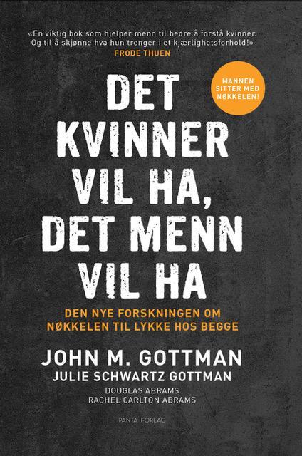 """""""Det kvinner vil ha, det menn vil ha - den nye forskningen om nøkkelen til lykke hos begge"""" av John M. Gottman"""