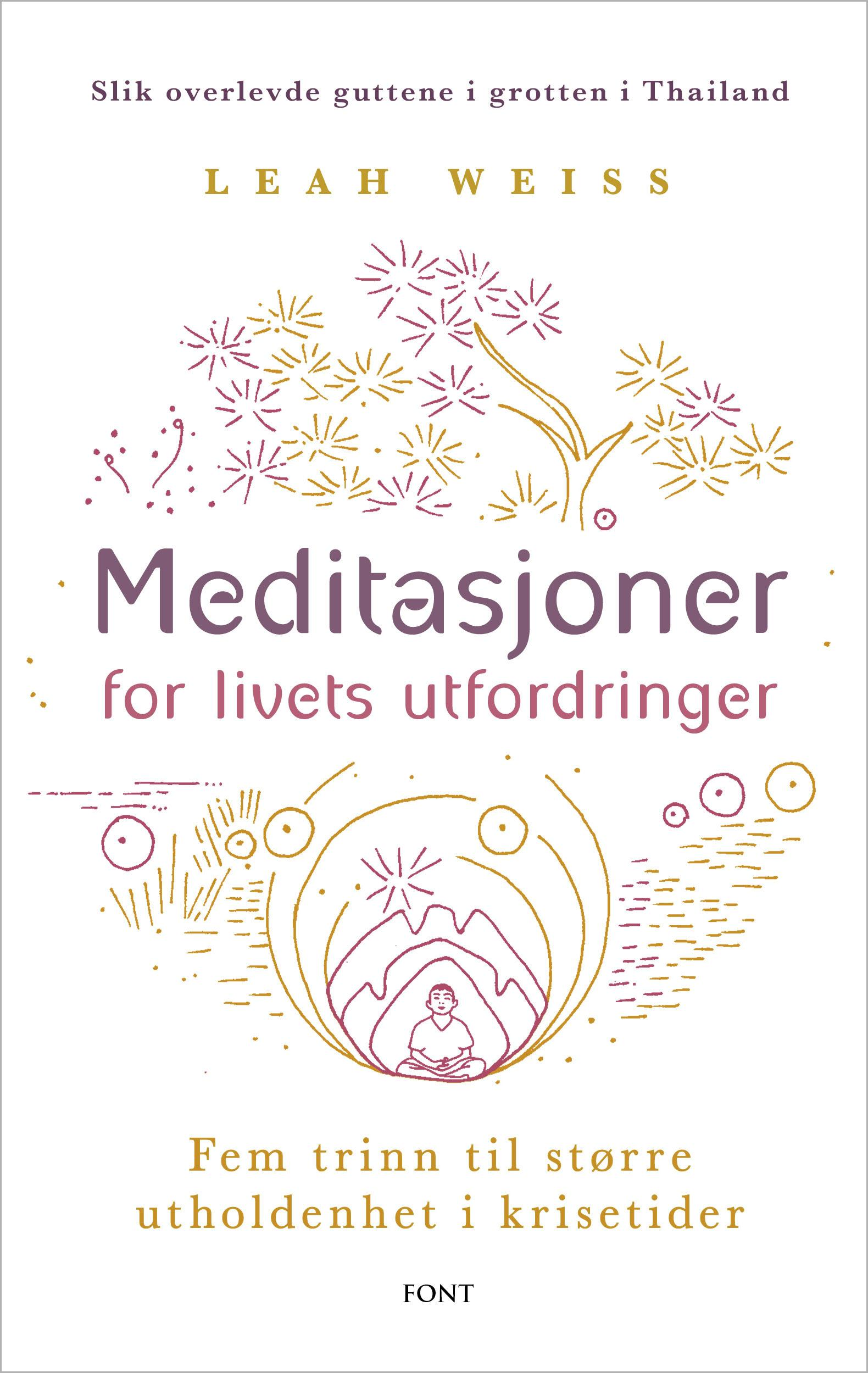 """""""Meditasjoner for livets utfordringer - fem trinn til større utholdenhet i krisetider"""" av Leah Weiss"""