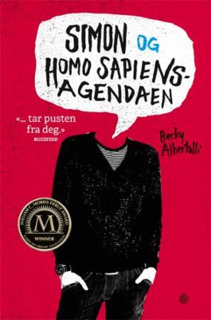 """""""Simon og homo sapiens-agendaen"""" av Becky Albertalli"""