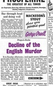 """Decline of the English Murder (Penguin Great Ideas)"" av George Orwell"
