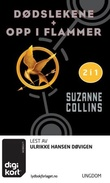 """""""Dødslekene ; Opp i flammer"""" av Suzanne Collins"""