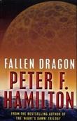 """""""Fallen dragon"""" av Peter F. Hamilton"""