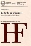 """""""Ondurdis og ondurgod - studier over den førkristne religion i Norden"""" av Ottar Grønvik"""