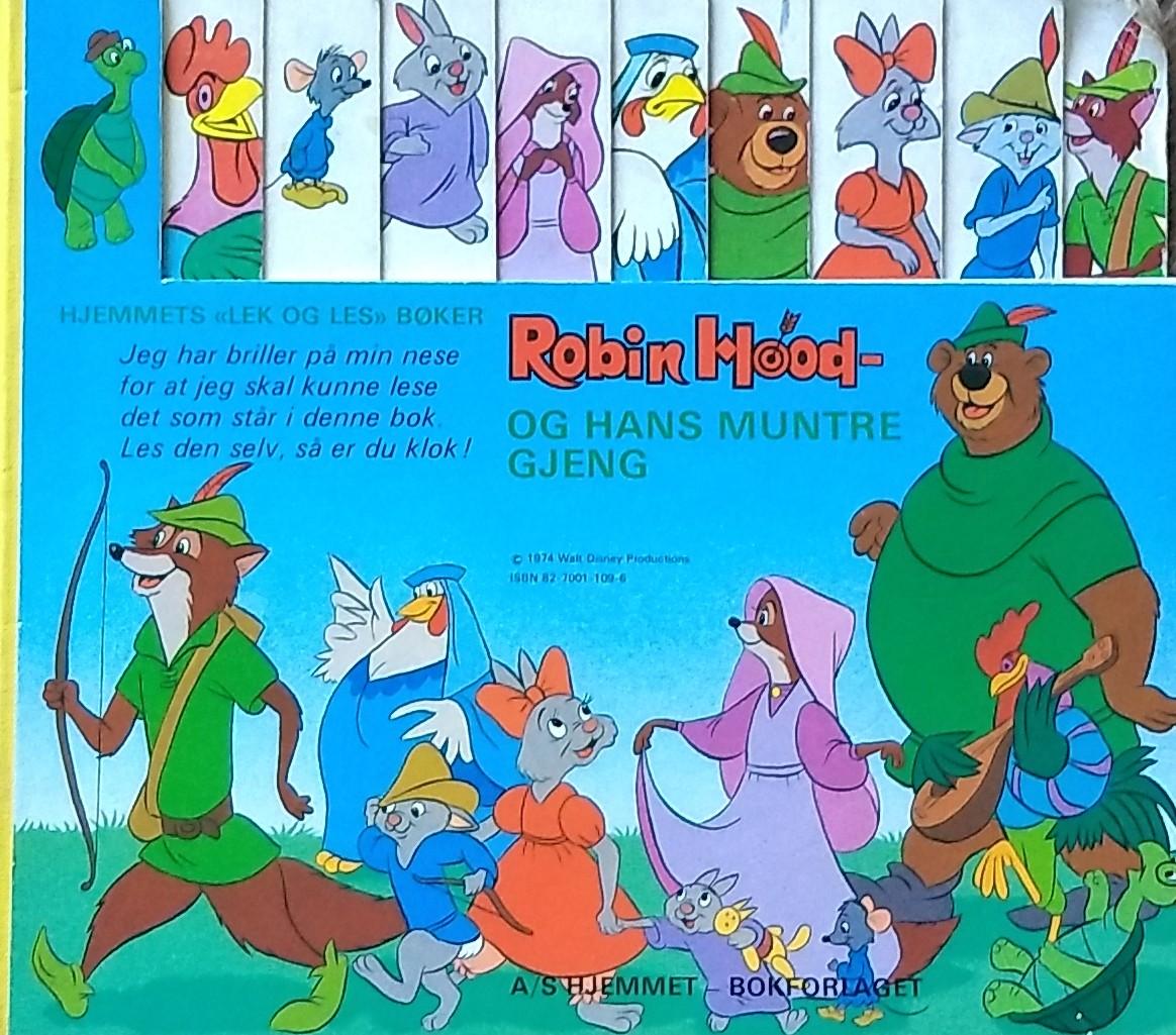 """""""Robin Hood og hans muntre gjeng"""" av Disney"""