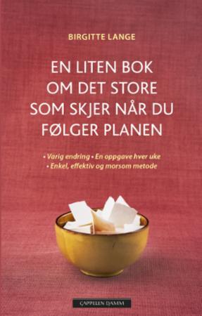 """""""En liten bok om det store som skjer når du følger planen - varig endring, en oppgave hver uke, enkelt, effektivt og morsomt"""" av Birgitte Lange"""