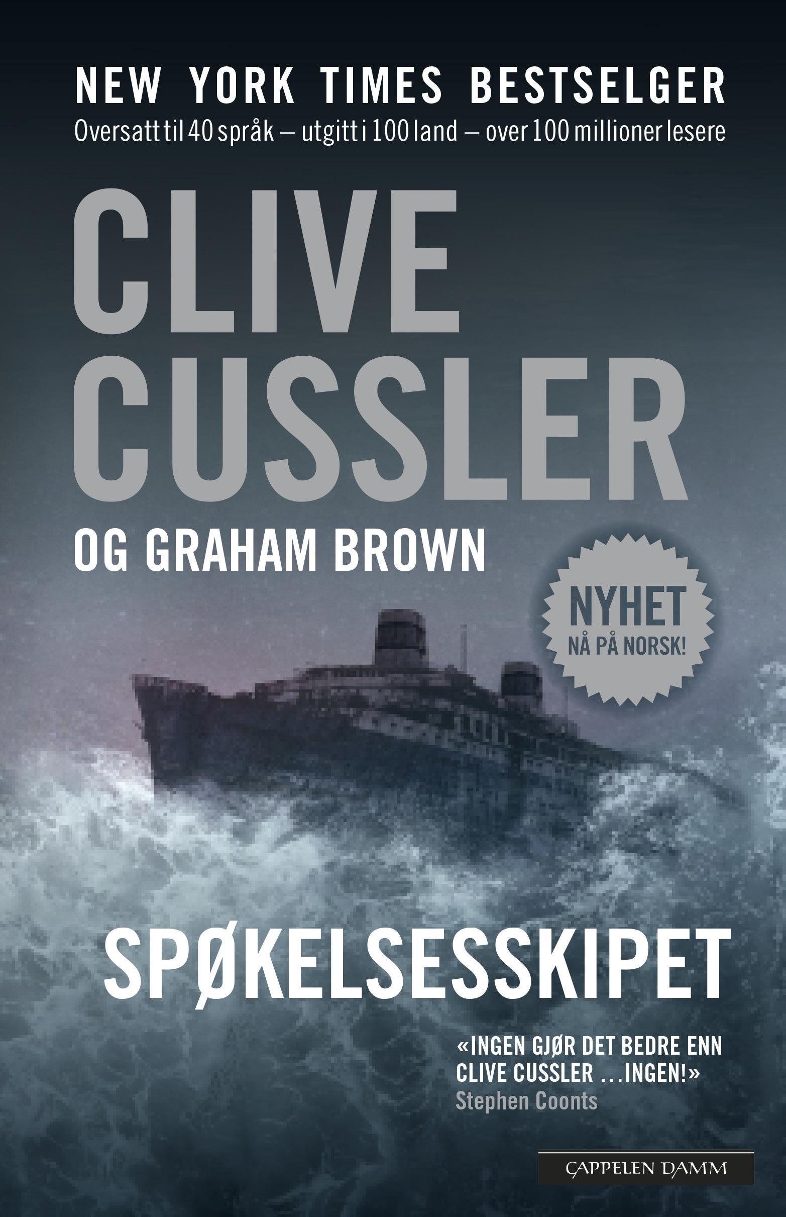 """""""Spøkelsesskipet"""" av Clive Cussler"""