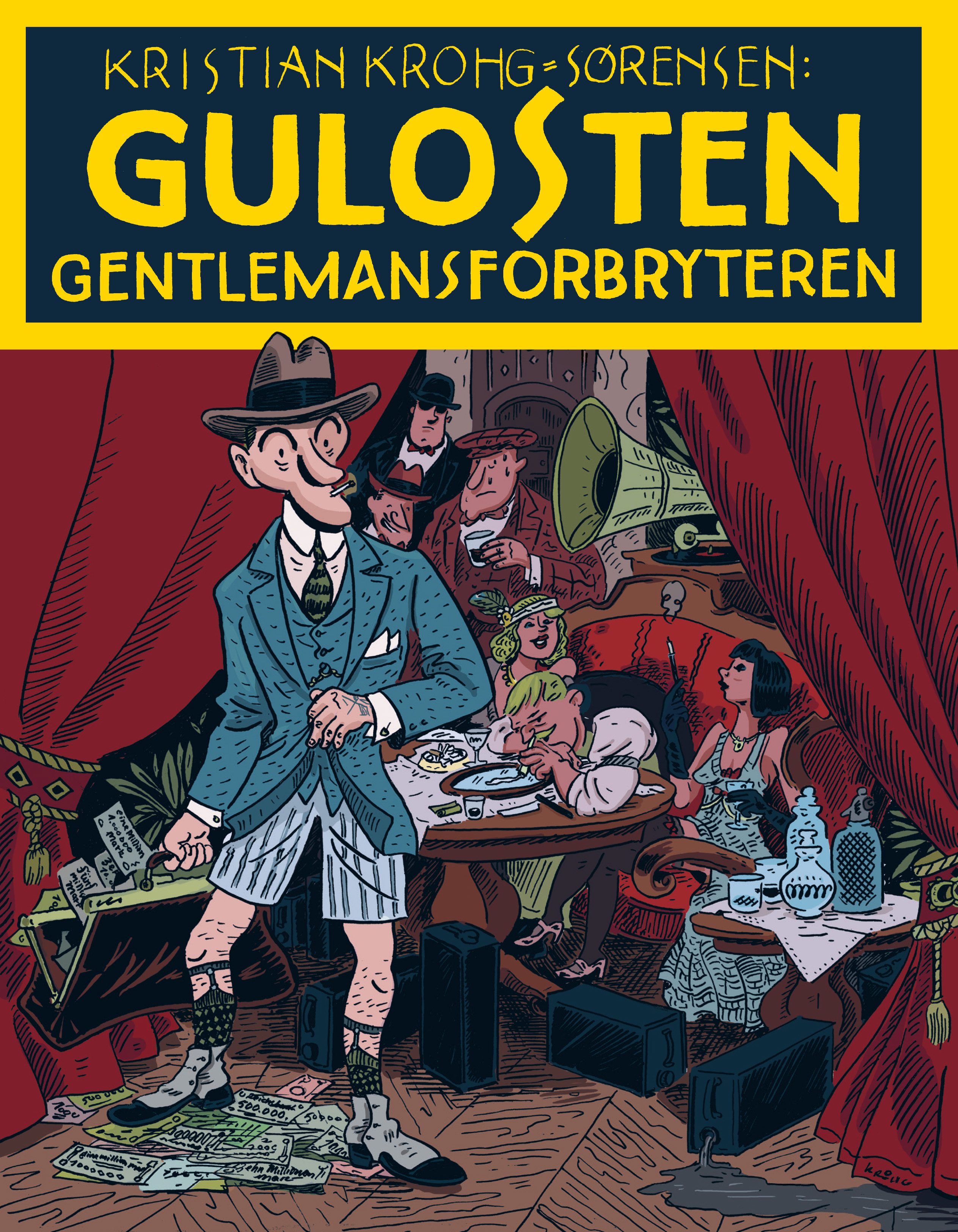 """Gulosten - gentlemansforbryteren"" av Kristian Krohg-Sørensen"