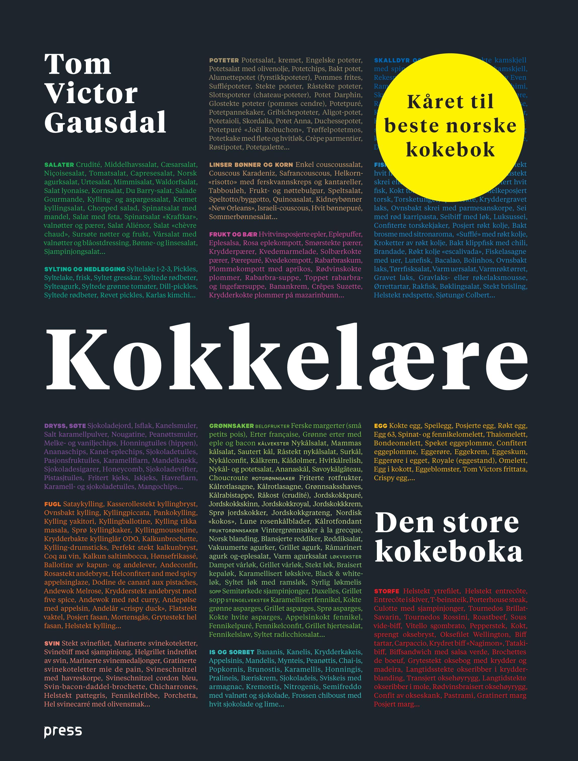 """""""Kokkelære - den store kokeboka"""" av Tom Victor Gausdal"""