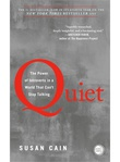 """Quiet the power of introverts in a world that can't stop talking"" av Susan Cain"
