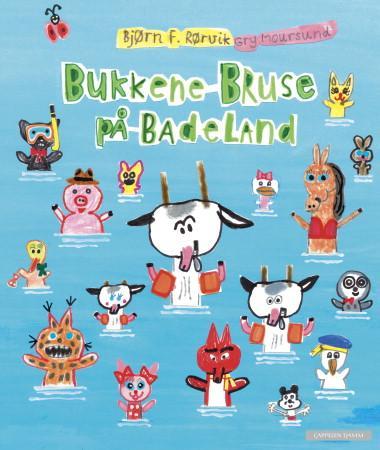 """""""Bukkene Bruse på badeland"""" av Bjørn F. Rørvik"""