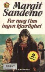 """""""For meg fins ingen kjærlighet"""" av Margit Sandemo"""