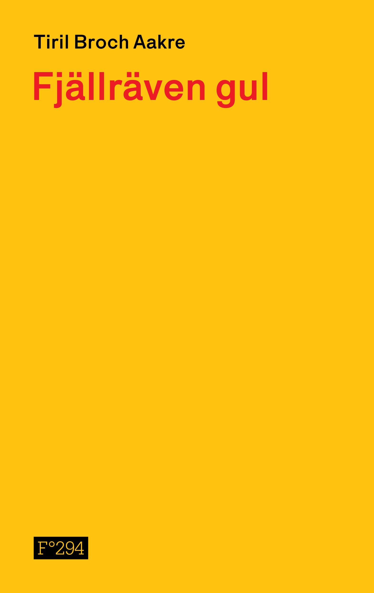 """""""Fjällräven gul"""" av Tiril Broch Aakre"""