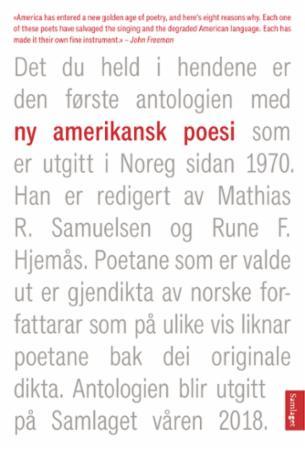 """""""Ny amerikansk poesi"""" av Rune F. Hjemås"""