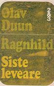 """""""Ragnhild   - Siste leveåre"""" av Olav Duun"""