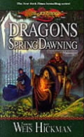 """Dragons of spring dawning - Dragonlance chronicles volume III"" av Margaret Weis"