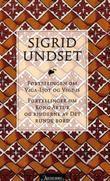 """""""Fortellingen om Viga-Ljot og Vigdis ; Fortellinger om Kong Arthur og ridderne av Det runde bord"""" av Sigrid Undset"""