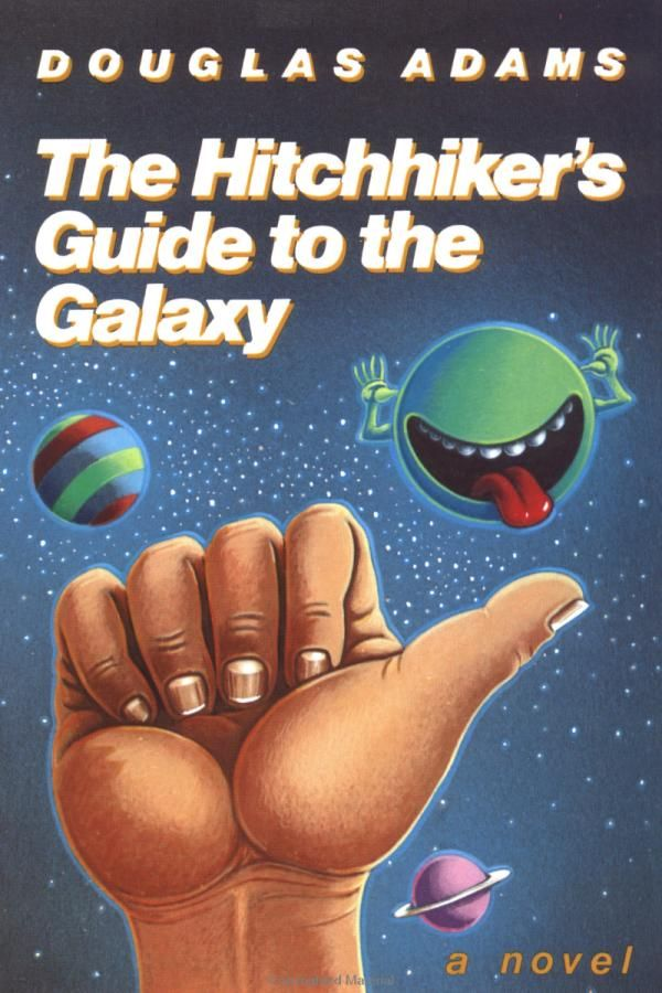 """""""Hitchhikers's Guide to the Galaxy"""" av Douglas Adams"""
