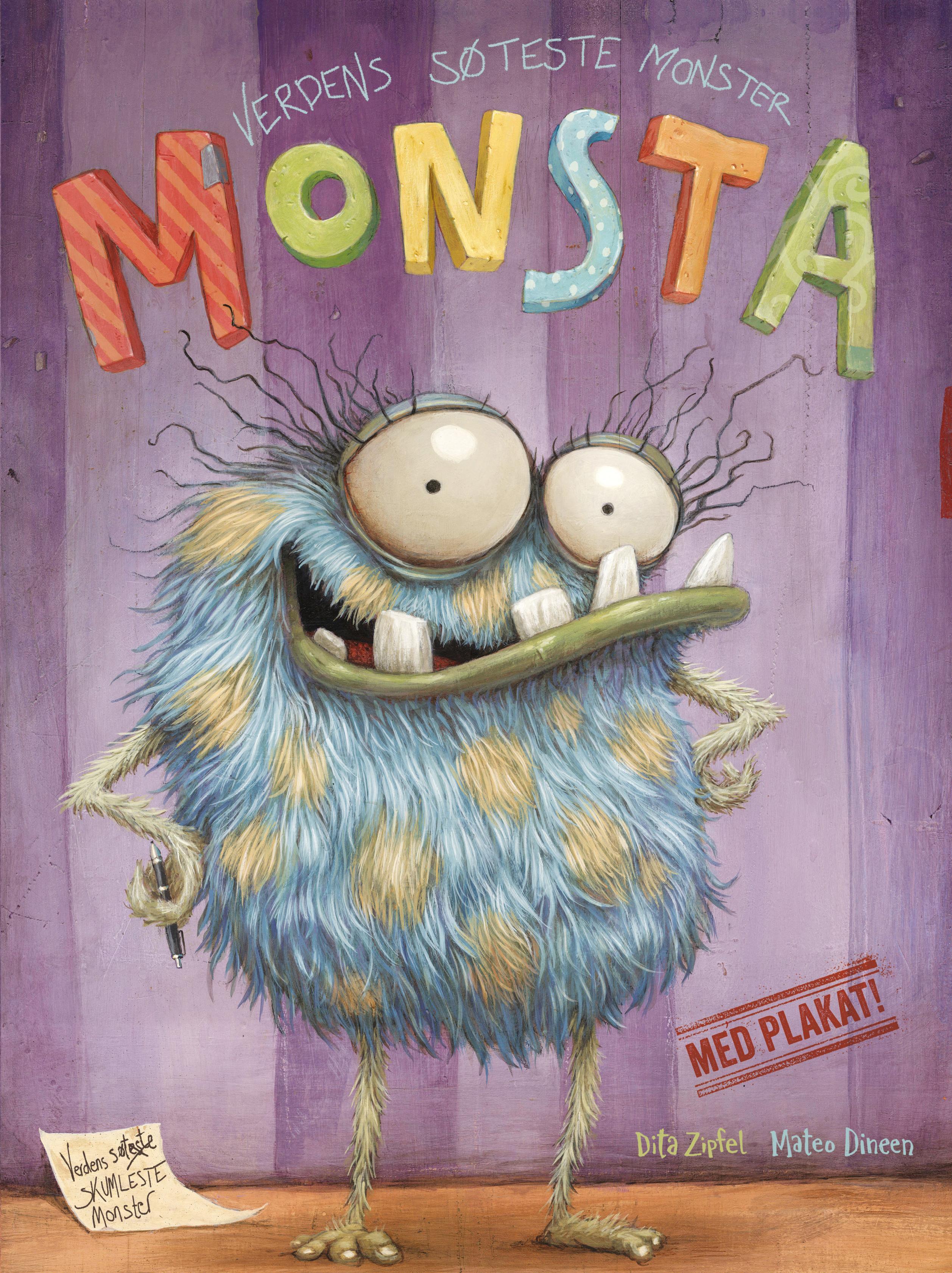 """""""Monsta - verdens søteste monster"""" av Dita Zipfel"""