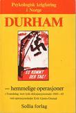 """""""Durham - hemmelige operasjoner i Trøndelag mot tysk okkupasjonsmakt 1943-45"""" av Erik Gjems-Onstad"""