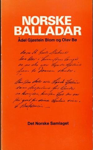 """""""Norske balladar i oppskrifter frå 1800-talet"""" av Ådel Gjøstein Blom"""