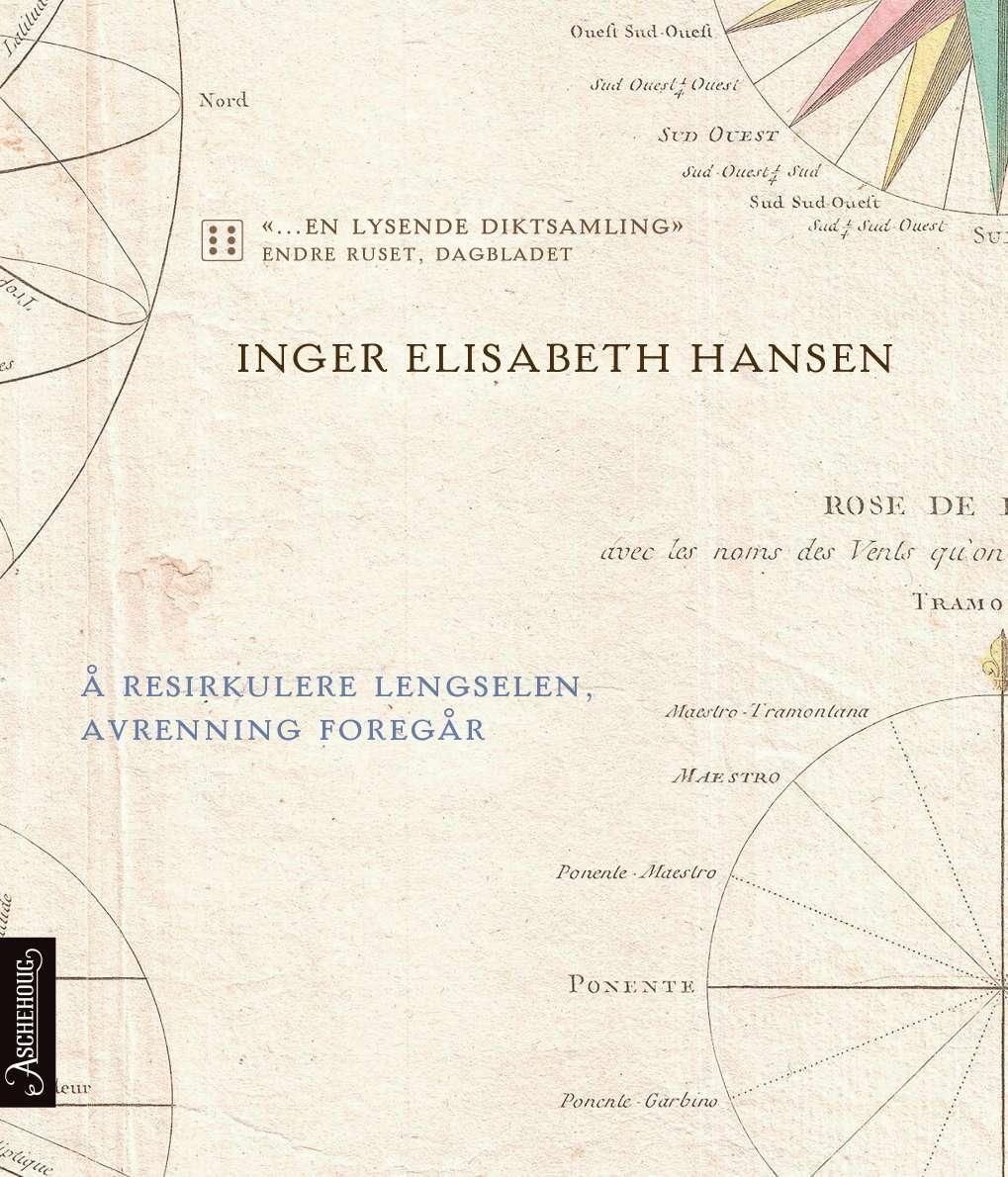 """""""Å resirkulere lengselen, avrenning foregår - dikt"""" av Inger Elisabeth Hansen"""