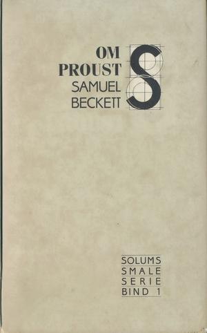 """""""Om Proust"""" av Samuel Beckett"""