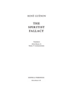 """The Spiritist Fallacy"" av René Guénon"