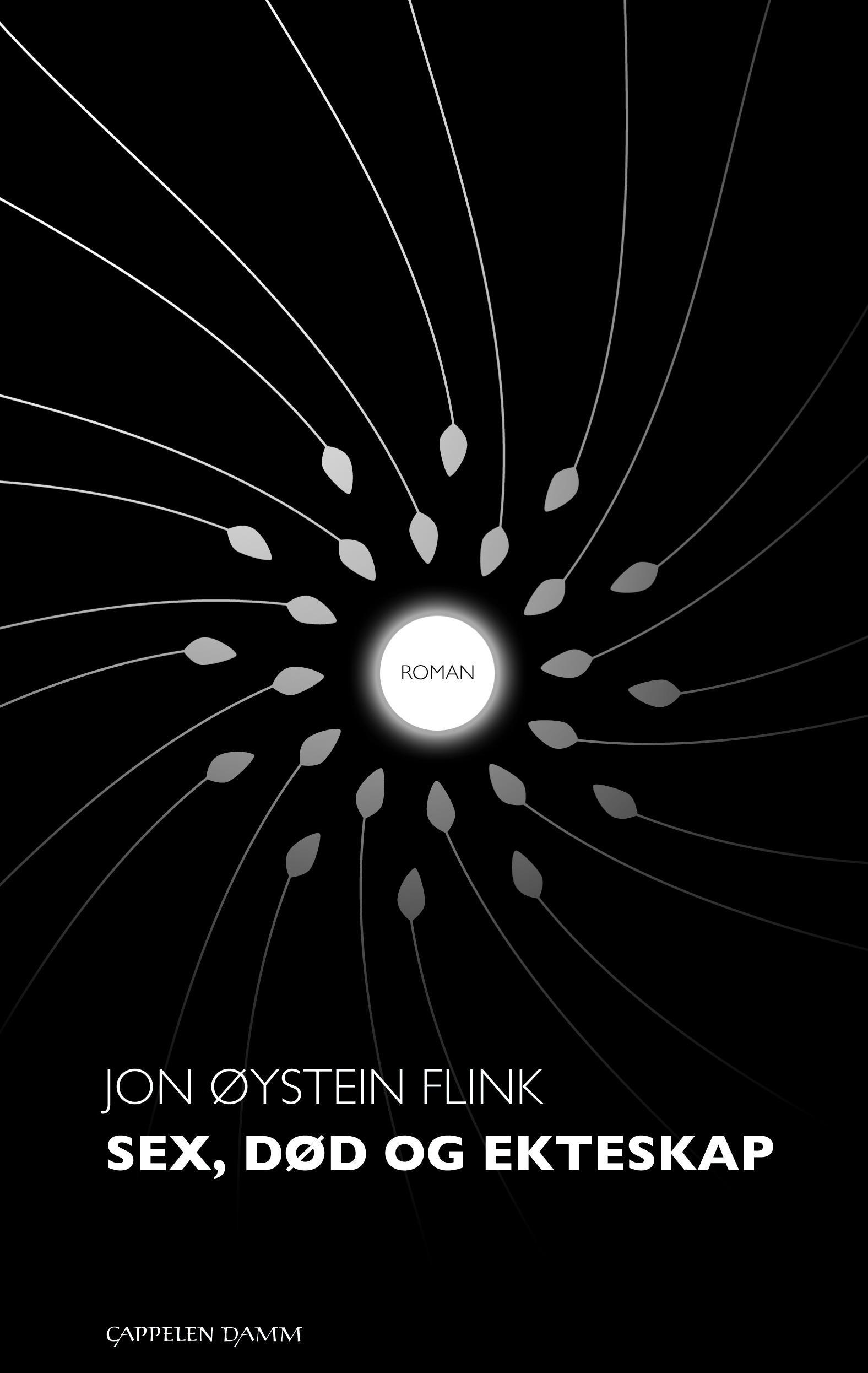"""""""Sex, død og ekteskap - roman"""" av Jon Øystein Flink"""